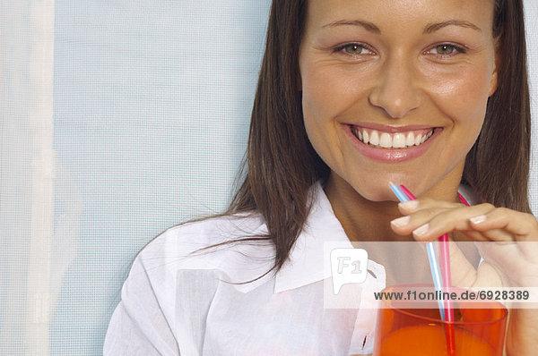 Frau trinken Getränke