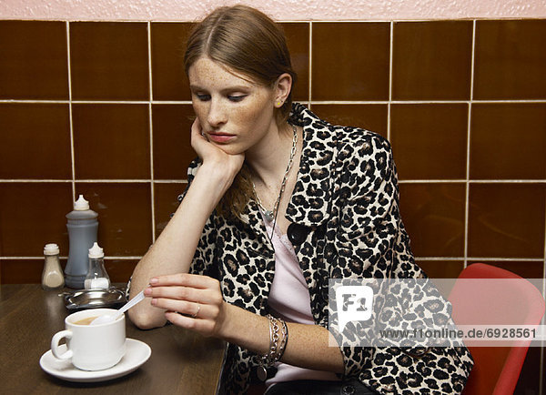Portrait  Frau  Restaurant