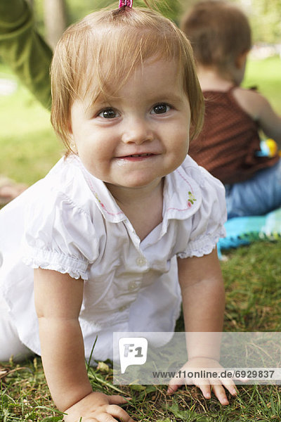 Portrait of Baby Outdoors