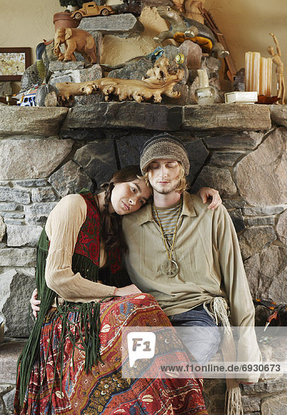 frontal  Wohnkamin  Wohnkamine  Kamin  Hippie
