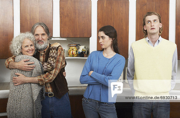 Küche  reifer Erwachsene  reife Erwachsene