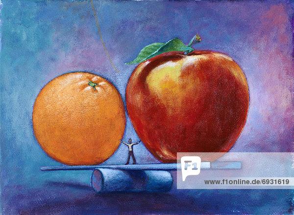 Orange  Orangen  Apfelsine  Apfelsinen  Mann  Vergleich  Apfel