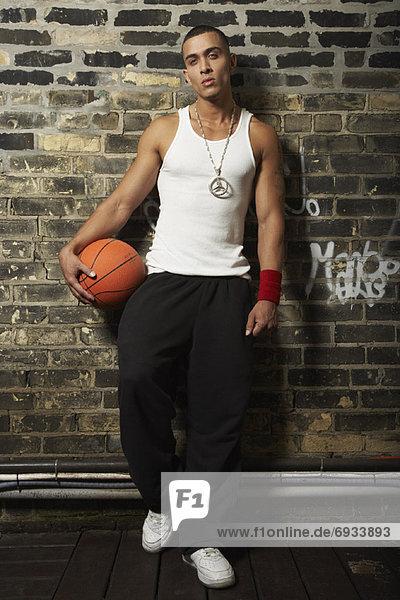 Portrait Spiel Basketball