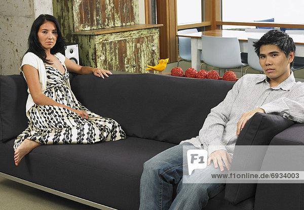 sitzend Interior zu Hause Couch