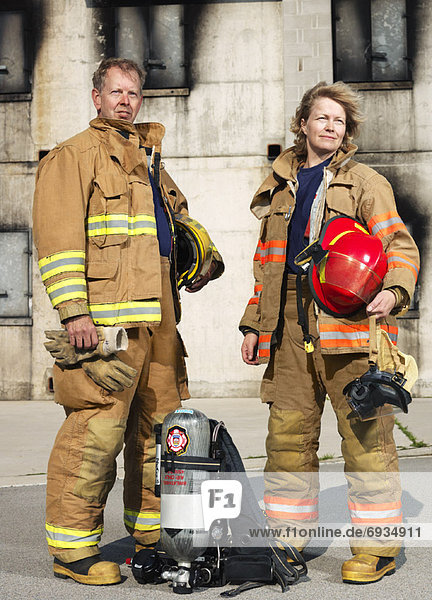 Portrait von Feuerwehrmännern