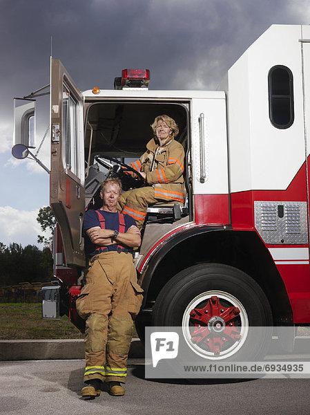 Feuer  Lastkraftwagen