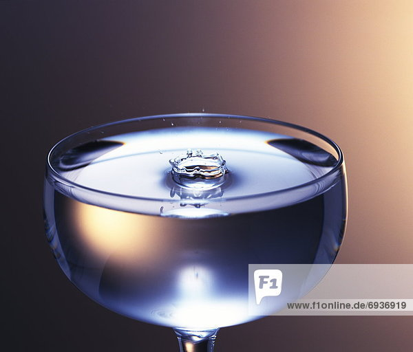 Splash in a cocktail glass