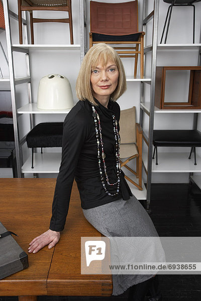 Portrait of Woman in Furniture Store