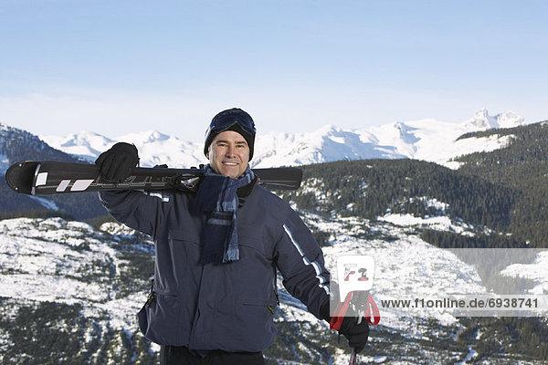 Portrait  Mann  Ski