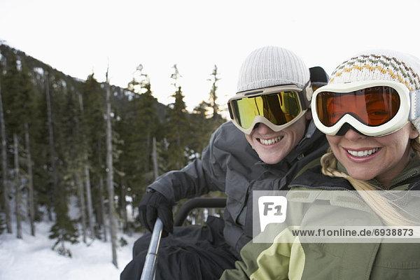 Portrait  heben  Ski