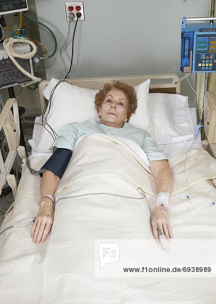 Patienten im Krankenhausbett