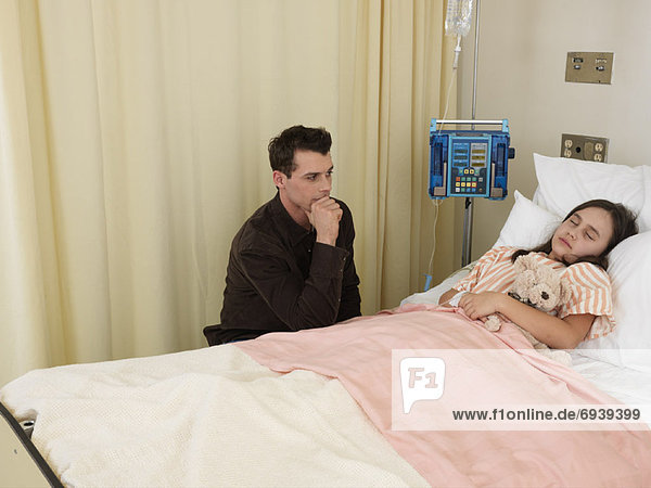 Mann  Zimmer  Krankenhaus  Mädchen