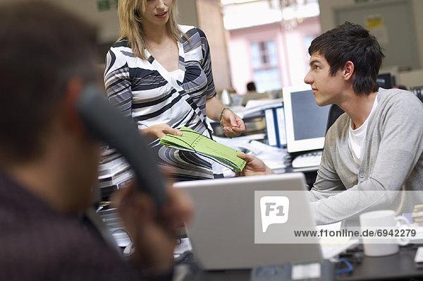 Menschen  die in Office