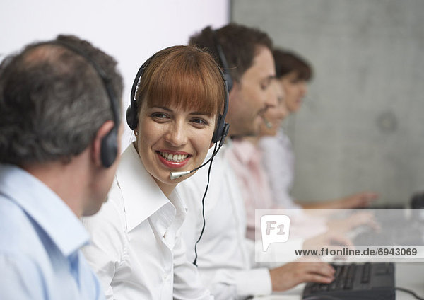 Computer  Mensch  Menschen  arbeiten  Headset  Business