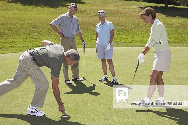Mensch  Menschen  Golfsport  Golf  spielen