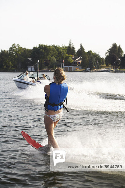 Woman Water-skiing