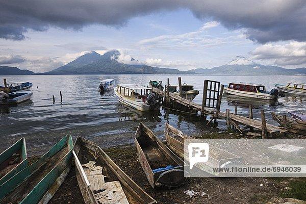 Fishing Boats  Lake Atitlan  Santa Catarina Palopo  Guatemala