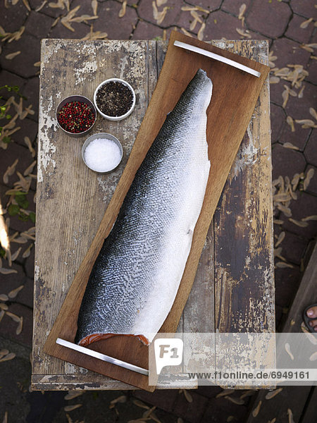Fisch Pisces Holz Stück