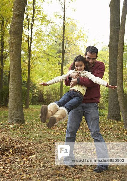 Vater und Tochter im freien