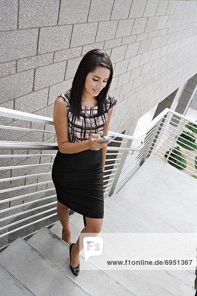Geschäftsfrau Lesung Textnachricht