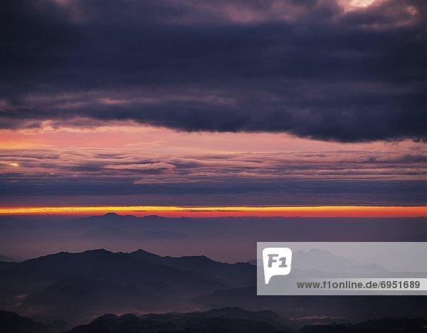 Berg  Morgen  Glut  über