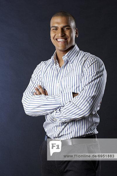 Portrait Geschäftsmann lächeln
