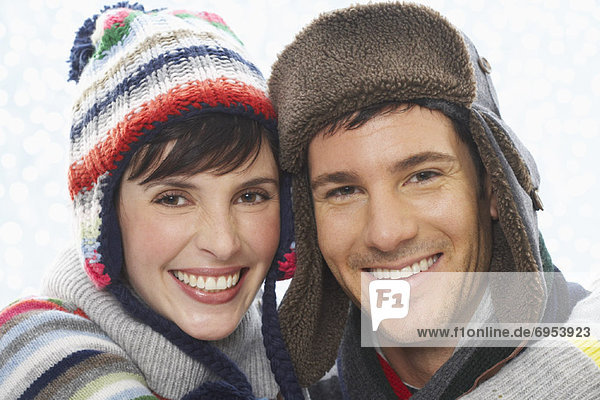 Portrait of Couple Wearing Winter Clothing