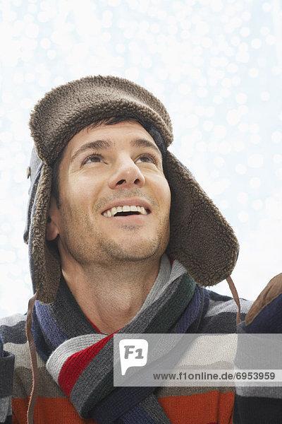Portrait  Winter  Mann  Kleidung