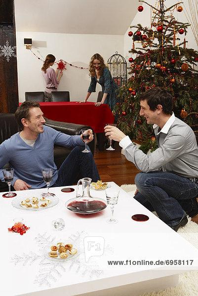 Freundschaft Fest festlich Weihnachten