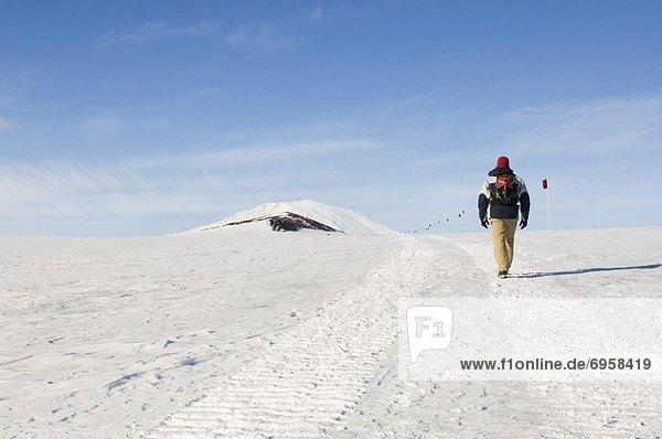 Felsbrocken  Mann  Palast  Schloß  Schlösser  wandern  Antarktis