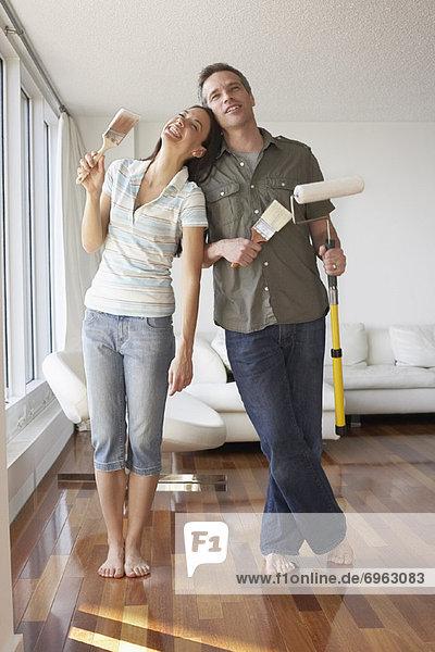 Apartment streichen streicht streichend anstreichen anstreichend Gegenstand