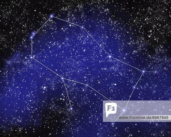 Nacht  Himmel  Silhouette  Anordnung  Zwilling - Sternzeichen