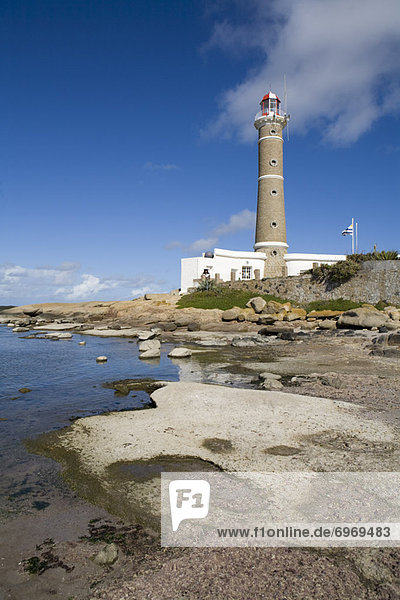Lighthouse on beach  Jose Ignacio Uruguay