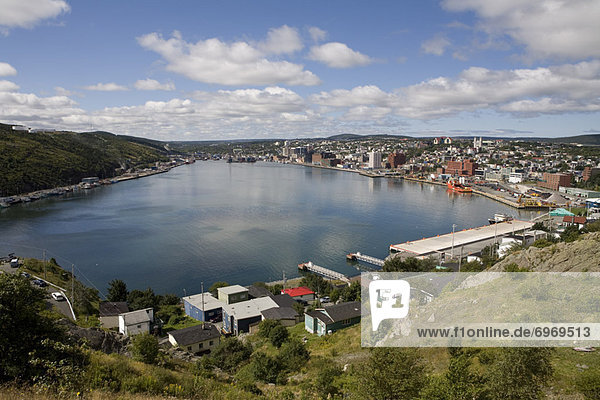 St Johns Harbour from Signal Hill  Newfoundland  Canada