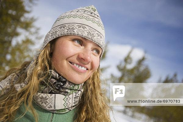 Portrait of Woman  Near Frisco  Summit County  Colorado  USA