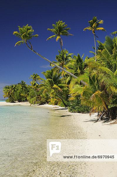 Beach  One Foot Island  Aitutaki Lagoon  Aitutaki  Cook Islands