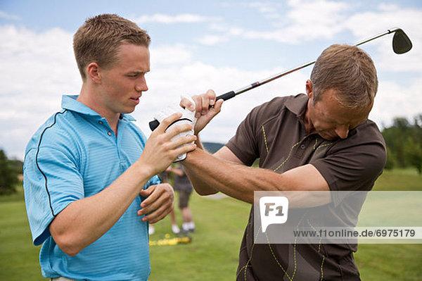 Man Learning How to Golf  Burlington  Ontario  Canada