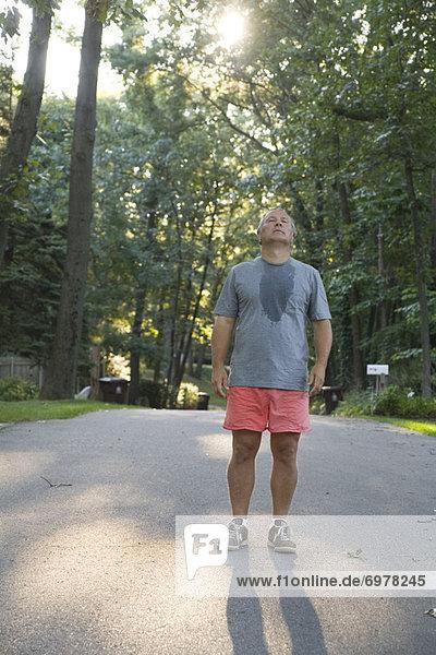 Mann  ruhen  Morgen  rennen