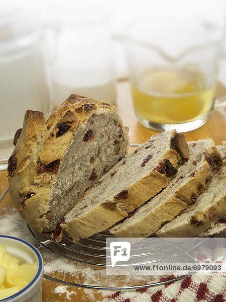 Wäscheständer  Kälte  Brot  backen  backend  backt  Zutat  Großfrüchtige Moosbeere  Vaccinium macrocarpon