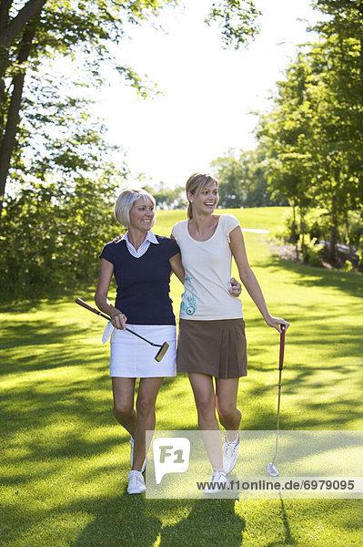 Tochter  Golfsport  Golf  Mutter - Mensch