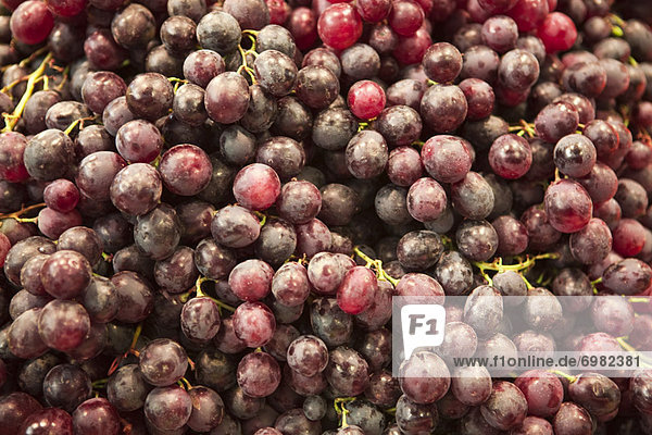 Grapes in Open Air Market  Barcelona  Spain