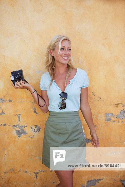Photographer With Vintage Camera  Punta Burros  Nayarit  Mexico