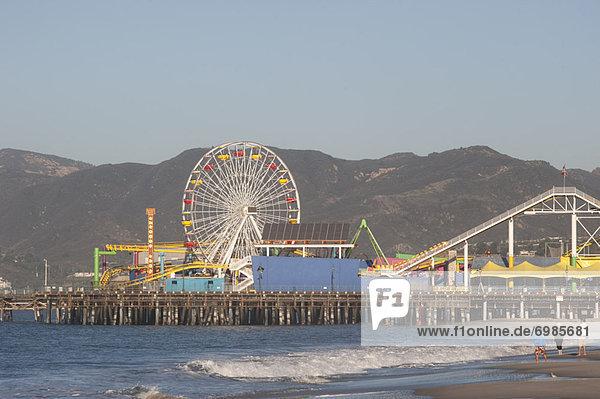 Vereinigte Staaten von Amerika USA Freizeitpark Kalifornien Los Angeles County Santa Monica