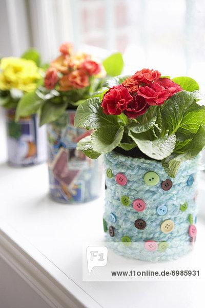Blume  Blumenvase  selbstgemacht