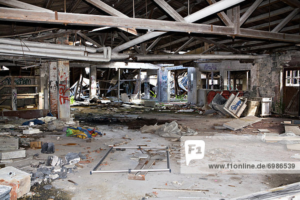 Verlassenes Fabrikgebäude in Coburg  Bayern  Deutschland  Europa