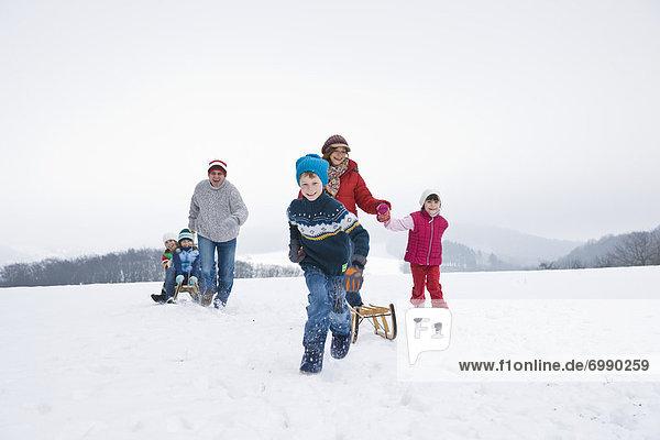 Außenaufnahme  Winter  Spaß  freie Natur