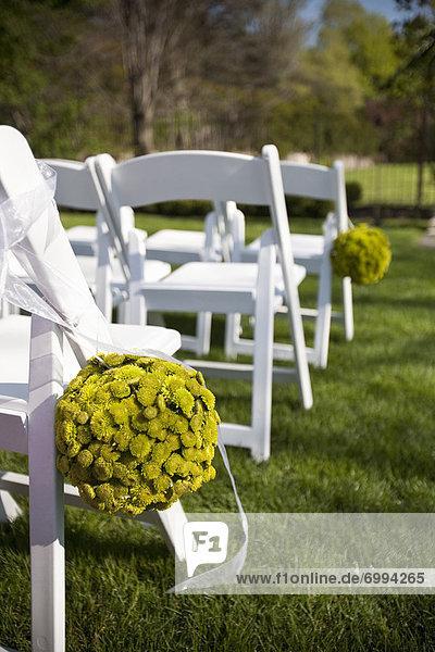 Stuhl  Blume  Hochzeit  Zeremonie