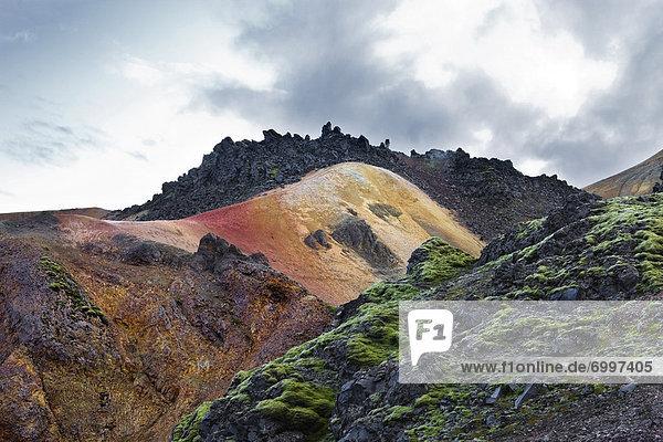 Rocky Landscape  Landmannalaugar  Iceland