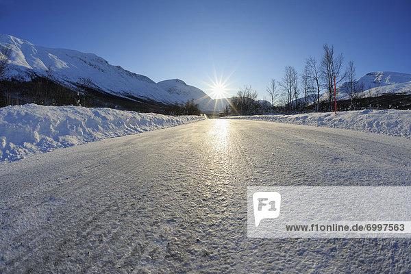 Icy Road  Breivikeidet  Troms  Norway