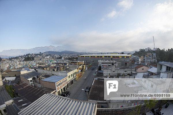 Ansicht Flachwinkelansicht Luftbild Fernsehantenne Winkel Guatemala breit